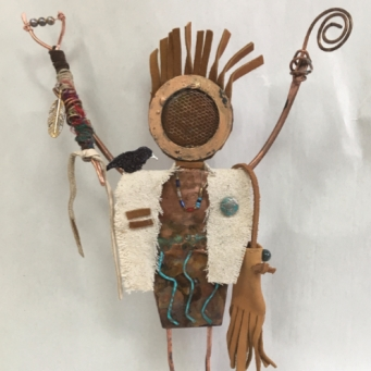 Shaman with Rattle