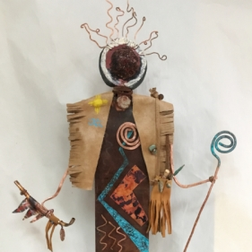 Shaman with Peace Pipe, 26X17