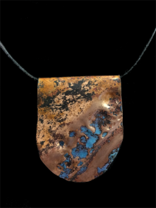 copper enameled turquoise necklace